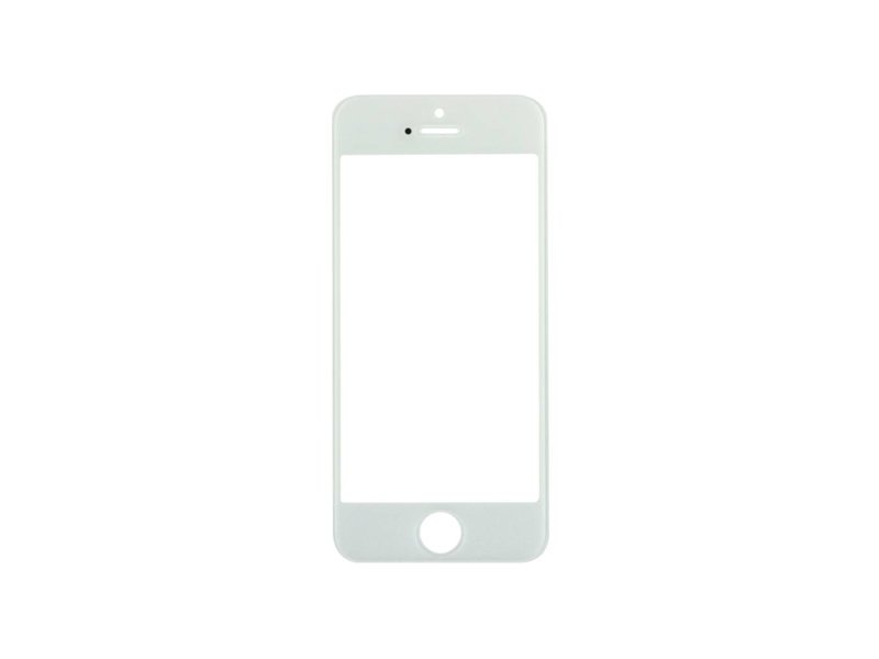 Front glas voor Apple iPhone 5 Wit/White (scherm glas)