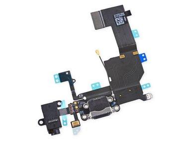 Dock connector voor Apple iPhone 5C Zwart/Black oplaadpoort flex reparatie onderdeel