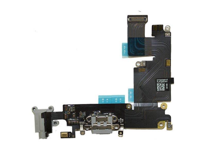 Dock connector voor iPhone 6 Zwart / Grijs oplaadpoort flex reparatie onderdeel