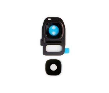 Camera lens cover glas voor Samsung Galaxy S7 Edge Zwart/Black reparatie onderdeel
