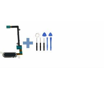 Home button voor Samsung Galaxy Note 4 Zwart/Black thuis knop reparatie onderdeel + benodigd gereedschap