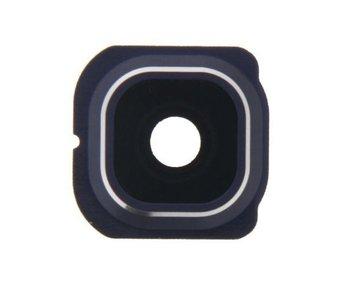 Camera lens cover glas voor Samsung Galaxy S6 Edge Blauw/Blue reparatie onderdeel