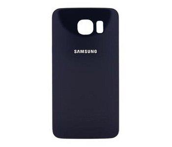 Back cover geschikt voor Samsung Galaxy S6 Edge Blauw/Blue achterkant glas reparatie onderdeel + bevestiging sticker