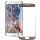 Front glas / scherm geschikt voor Samsung Galaxy S6 Edge G925 Goud / Gold reparatie onderdeel