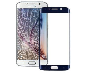 Front glas / scherm geschikt voor Samsung Galaxy S6 Edge G925 Blauw / Blue reparatie onderdeel