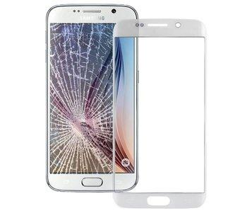 Front glas / scherm geschikt voor Samsung Galaxy S6 Edge G925 Wit / White reparatie onderdeel