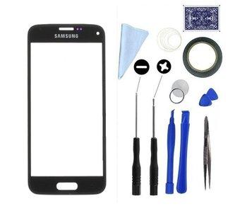 Scherm glas geschikt voor Samsung Galaxy S5 Mini Zwart/Black display touchscreen met professionele complete toolkit/gereedschap