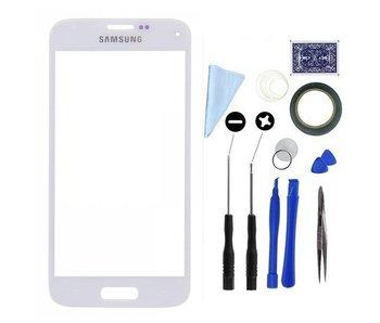 Scherm glas geschikt voor Samsung Galaxy S5 Mini Wit/White display touchscreen met professionele complete toolkit/gereedschap
