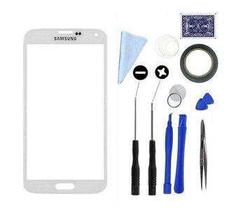 Scherm glas geschikt voor Samsung Galaxy S5 Wit/White display touchscreen met professionele complete toolkit/gereedschap