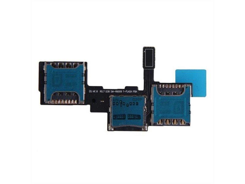 Simkaart en Geheugenkaart connector voor Samsung Galaxy Note 3 reparatie onderdeel