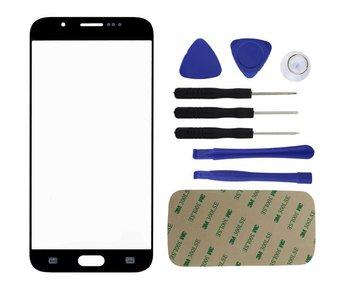 Front glas / scherm geschikt voor Samsung Galaxy S6 G920 Zwart/Blauw reparatie onderdeel + Tools + bevestiging sticker