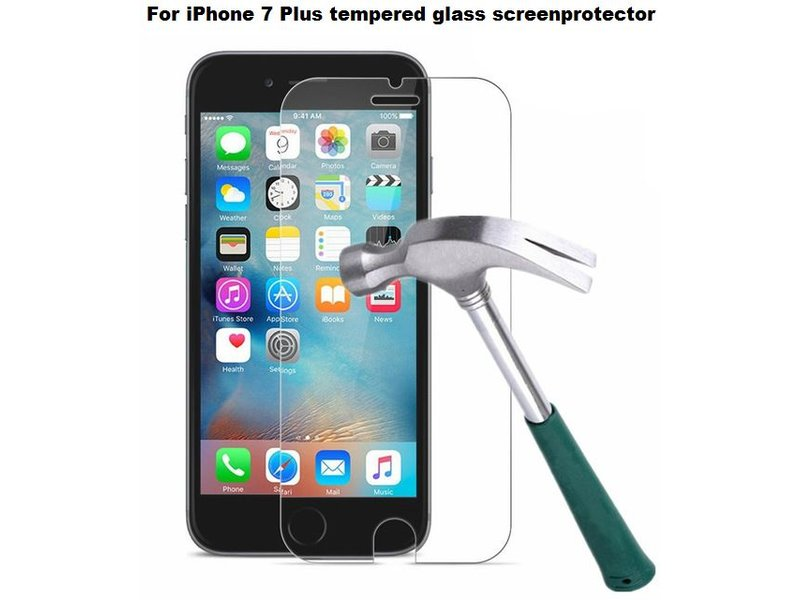 Screenprotector ECHT GEHARD GLAS voor Apple iPhone 7 PLUS (tempered glass/gehard glas)