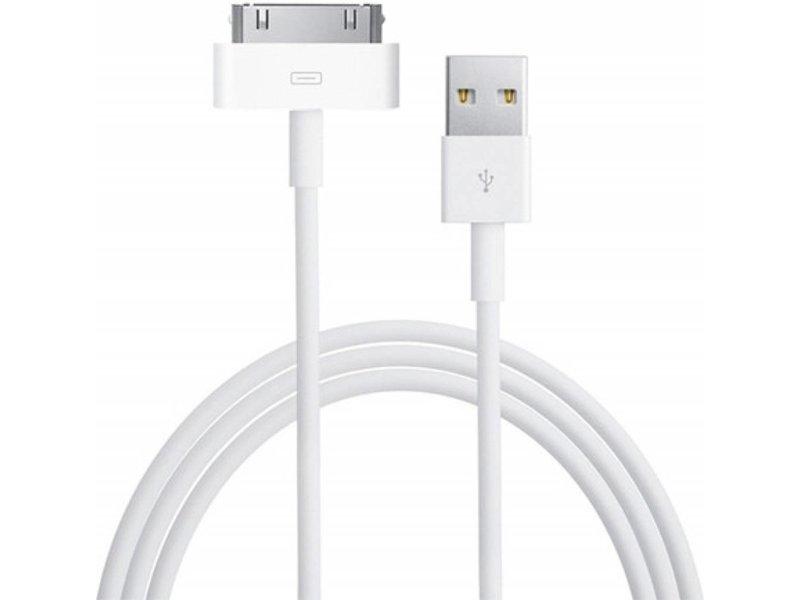 Premium kwaliteit oplader kabel 1 meter geschikt voor Apple iPhone 4 / 4S - 30 pins