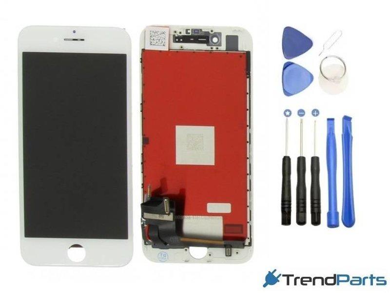 Compleet AAA+ kwaliteit LCD scherm met touchscreen voor Apple iPhone 7 WIT + toolkit + handleiding+ tempered glass screenprotector (white)