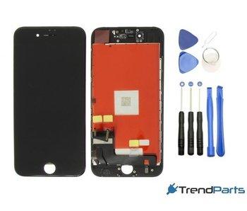 Compleet AAA+ kwaliteit LCD scherm met touchscreen voor Apple iPhone 7 ZWART + toolkit + handleiding+ tempered glass screenprotector (black)