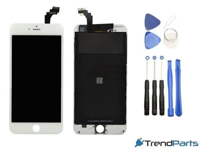 Compleet AAA+ kwaliteit LCD scherm met touchscreen voor Apple iPhone 6 PLUS wit + toolkit + handleiding+ tempered glass screenprotector (white)