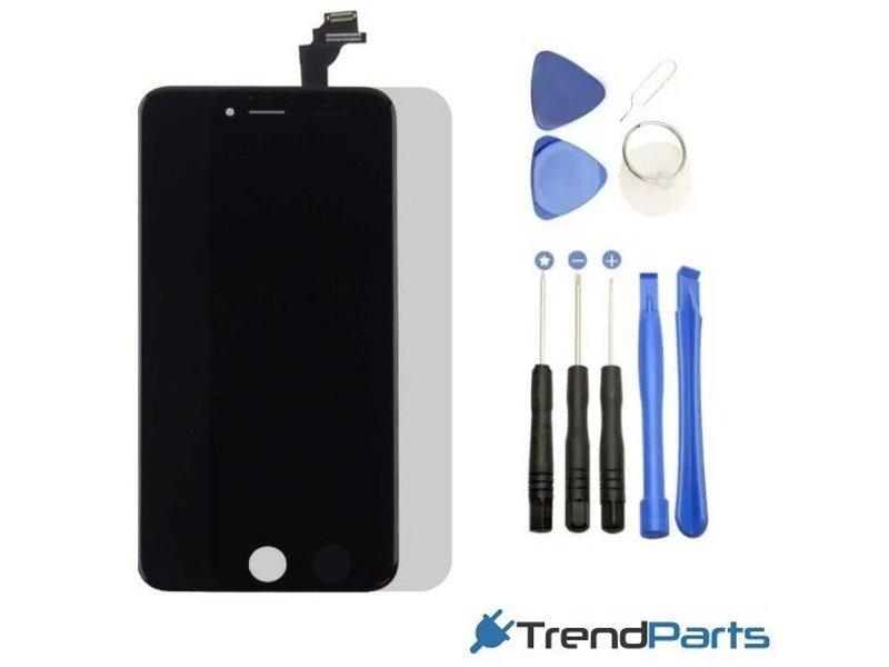 Compleet AAA+ kwaliteit LCD scherm met touchscreen voor Apple iPhone 6 PLUS zwart + toolkit + handleiding+ tempered glass screenprotector (black)