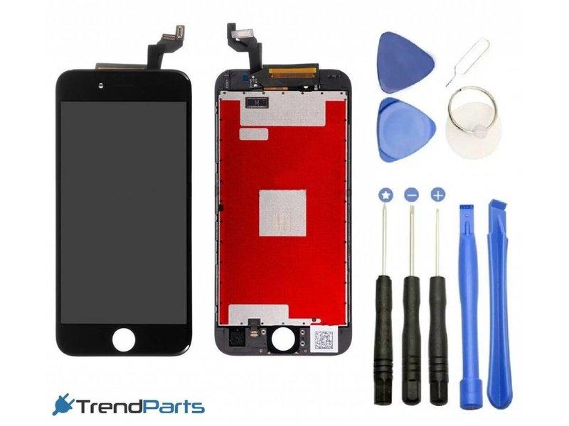 Compleet AAA+ kwaliteit LCD scherm met touchscreen voor Apple iPhone 6S PLUS zwart + toolkit + handleiding+ tempered glass screenprotector (black)