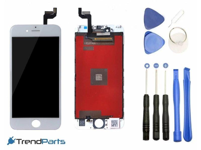 Compleet AAA+ kwaliteit LCD scherm met touchscreen voor Apple iPhone 6S WIT + toolkit + handleiding+ tempered glass screenprotector (white)