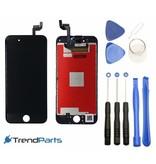 Compleet AAA+ kwaliteit LCD scherm met touchscreen voor Apple iPhone 6S ZWART + toolkit + handleiding+ tempered glass screenprotector (black)