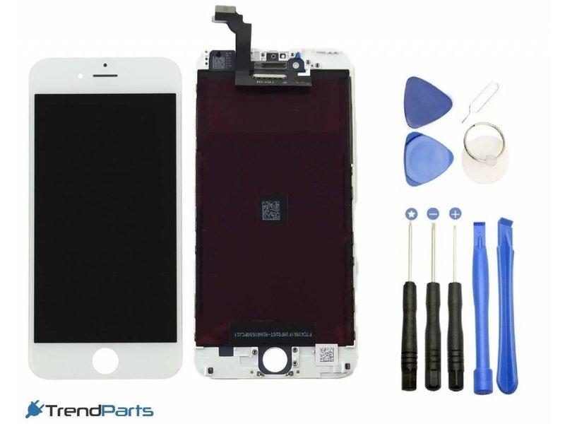 Compleet LCD scherm met touchscreen voor Apple iPhone 6 (6G) WIT + toolkit + handleiding+ tempered glass screenprotector (white)