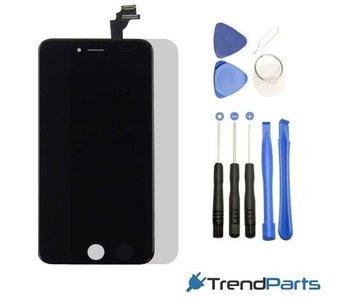 Compleet LCD scherm met touchscreen voor Apple iPhone 6 (6G) Zwart + toolkit + handleiding+ tempered glass screenprotector (black)