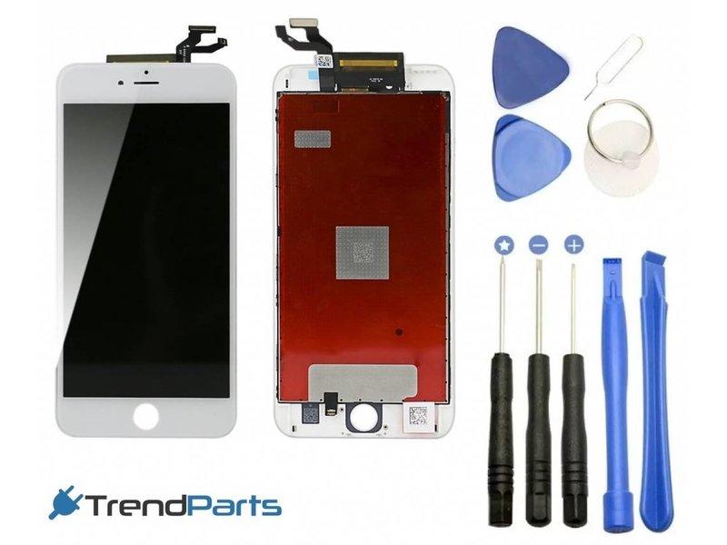 Compleet LCD scherm met touchscreen voor Apple iPhone 6S PLUS wit + toolkit + handleiding+ tempered glass screenprotector (white)