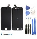Compleet LCD scherm met touchscreen voor Apple iPhone SE Zwart + toolkit + handleiding+ tempered glass screenprotector (black)