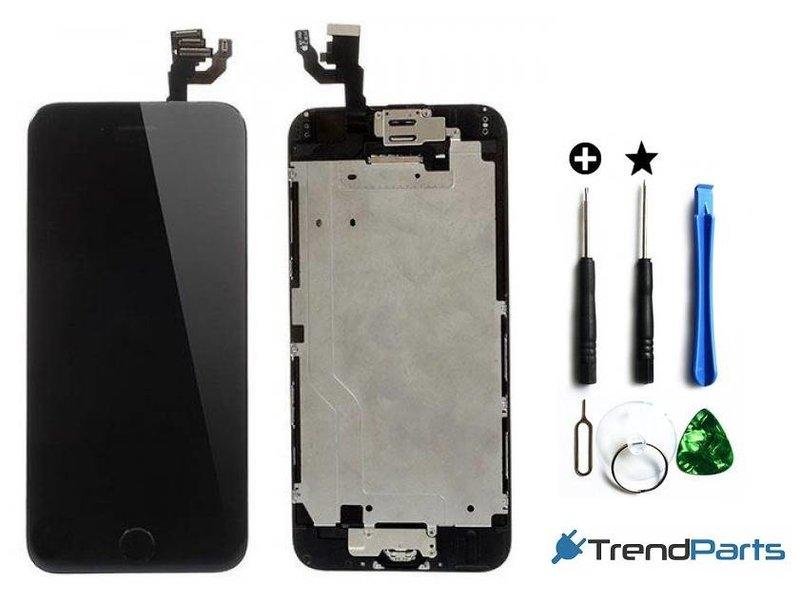 """Voorgemonteerd scherm voor Apple iPhone 6 4.7"""" - AAA+ compleet LCD Zwart + Tools + tempered glass"""