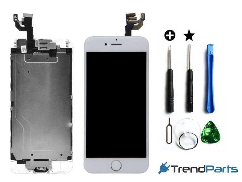 """Voorgemonteerd scherm voor Apple iPhone 6 4.7"""" - AAA+ compleet LCD scherm WIT + Tools + tempered glass"""