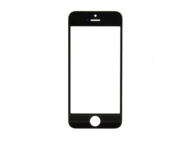 Front glas voor Apple iPhone 5S glasplaat Zwart/Black scherm voor reparatie