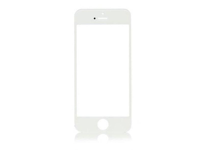 Front glas voor Apple iPhone 5S glasplaat Wit/White scherm voor reparatie