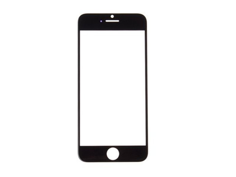 Front glas voor Apple iPhone 6S glasplaat Zwart/Black scherm voor reparatie