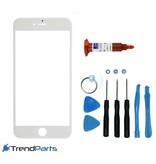 Front glas voor IPHONE 6 & 6S glasplaat Wit/White inclusief tools en UV LOCA LIJM voor reparatie