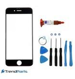 Front glas voor IPHONE 6 & 6S glasplaat Zwart/Black inclusief tools en UV LOCA LIJM voor reparatie