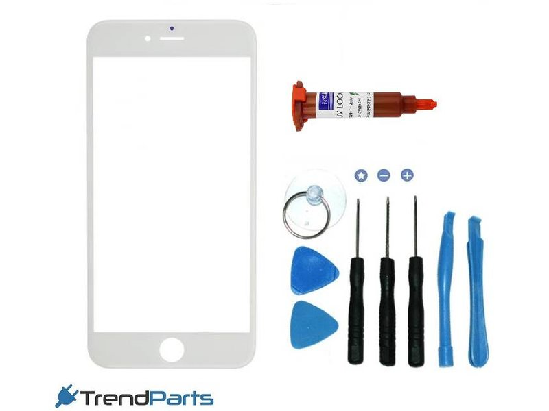 Front glas voor IPHONE 6 PLUS & 6S PLUS glasplaat Wit/White inclusief tools en UV LOCA LIJM voor reparatie