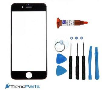 Front glas voor IPHONE 7 glasplaat Zwart / Black inclusief tools en UV LOCA LIJM voor reparatie
