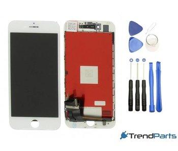Compleet AAA+ kwaliteit LCD scherm met touchscreen voor Apple iPhone 7 WIT + toolkit (white)