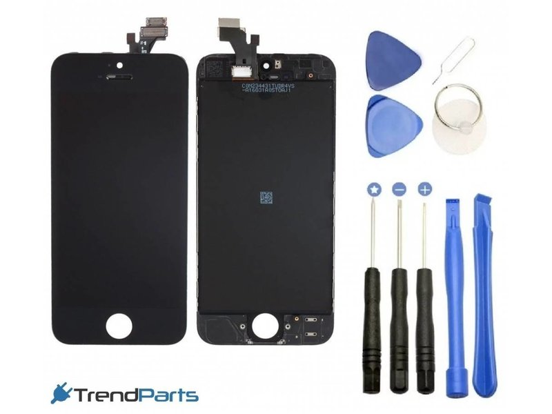 Compleet LCD scherm met touchscreen voor Apple iPhone 5S Zwart + toolkit (black)