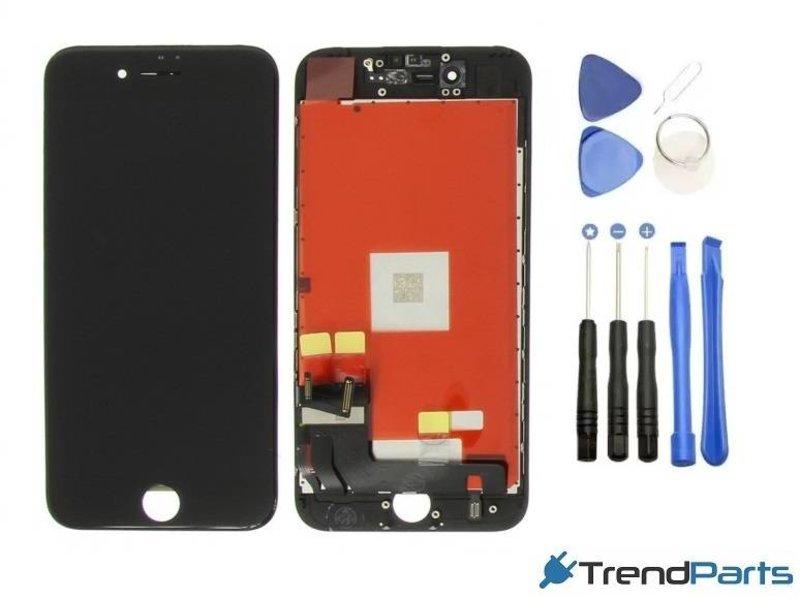 Scherm voor Apple iPhone 7 PLUS ZWART compleet AAA+ kwaliteit LCD met touchscreen + toolkit + tempered glass (black)