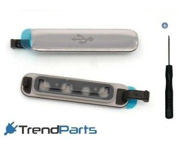 USB Klepje Zilver voor Samsung Galaxy S5 SM-G900F + Gereedschap voor reparatie