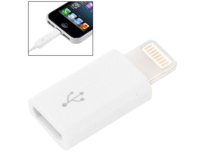 Micro-USB naar iPhone connector 8-pin kabel adapter voor iPhone X/8/7/6/6Plus/5S/SE/5 en iPad
