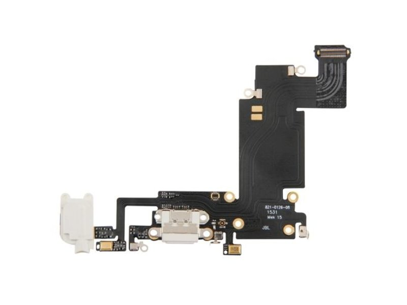 Dock connector voor iPhone 6S PLUS wit / white lightning oplaadpoort reparatie onderdeel