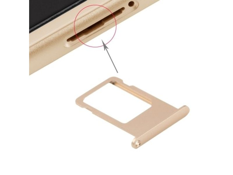 Simkaart sim tray voor Apple iPhone 6S PLUS Goud / Gold reparatie onderdeel