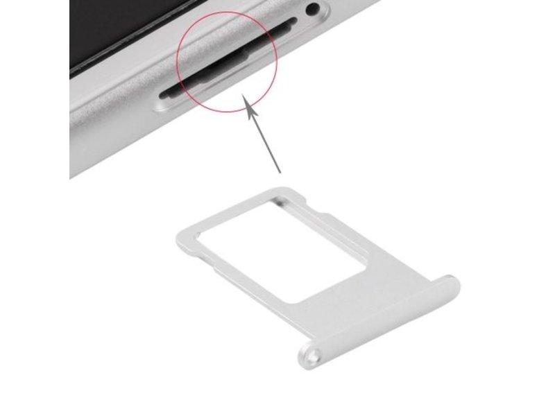 Simkaart sim tray voor Apple iPhone 6S PLUS Zilver / Silver simkaarthouder reparatie onderdeel