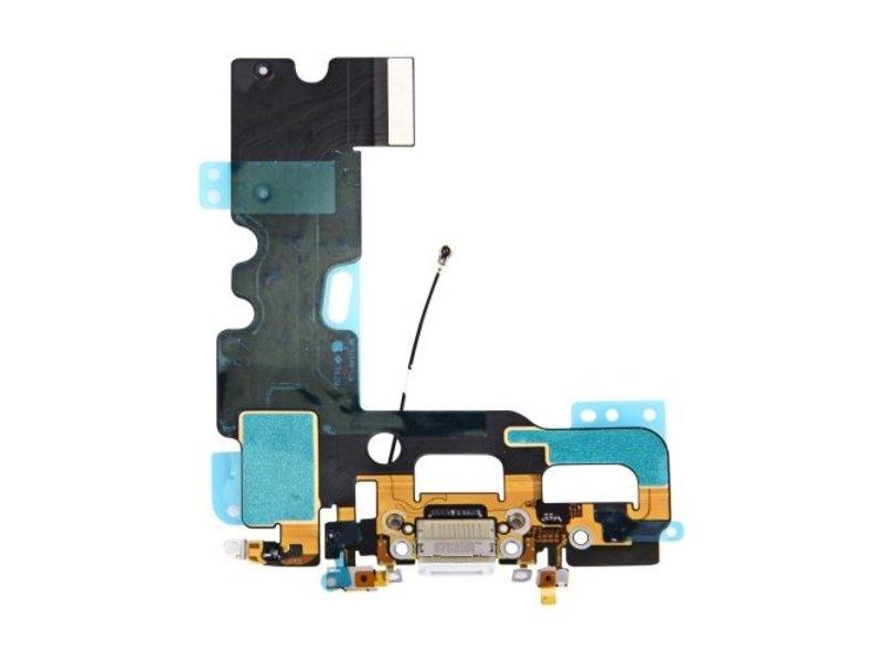 Dock connector lightning voor Apple iPhone 7 Wit / White oplaadpoort + audio flex reparatie onderdeel
