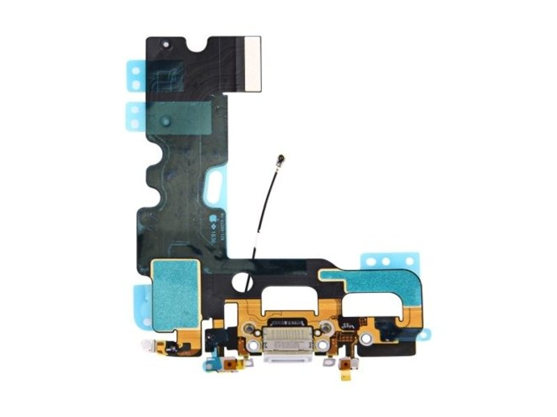 Dock connector lightning voor Apple iPhone 7 Grijs / Zwart oplaadpoort + audio flex reparatie onderdeel