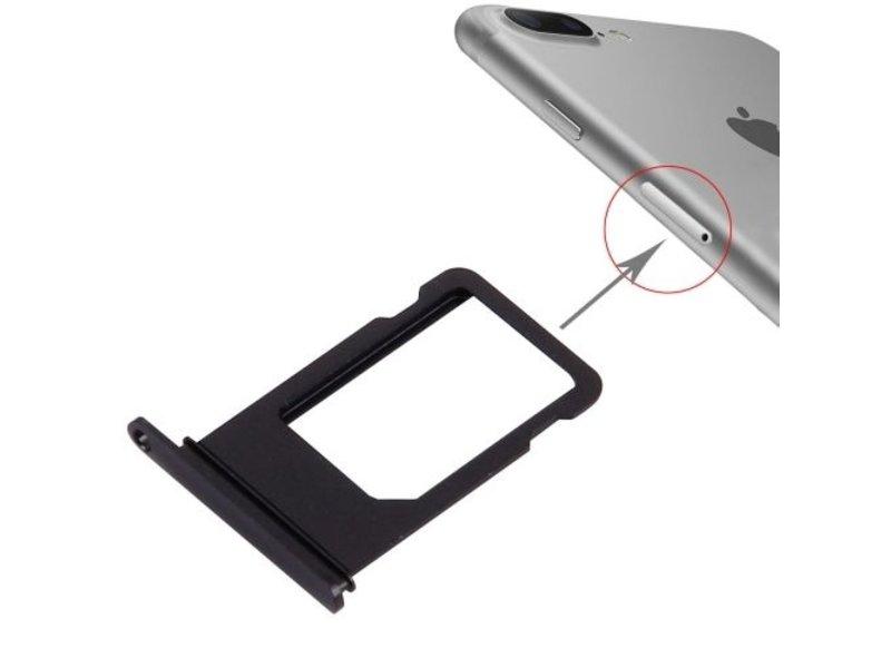 Simkaart sim tray voor iPhone 7 PLUS Zwart / Black simkaarthouder reparatie onderdeel