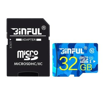 MicroSD kaart 32 GB + SD Class 10 Adapter geheugenkaart memory opslag