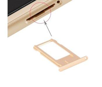 Simkaart houder voor Apple iPhone 6 Goud / Gold simkaarthouder reparatie onderdeel